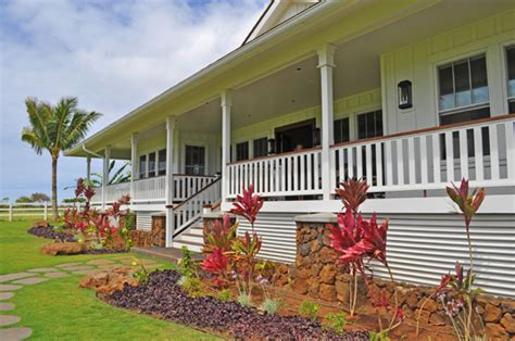plantation style luxury plantation style home on kauai new construction