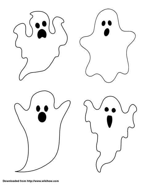 ghost templates draw a ghost craft ideas and holidays