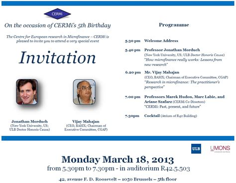 Nyu Mba Invitations by Event Cermi S 5th Birthday Conference Solvay Brussels