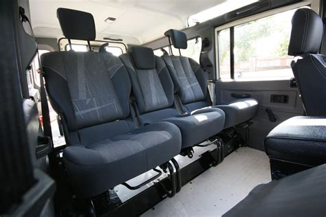 land rover defender interior back seat renault scenic 2 rear seats into 110 defender projects