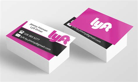 Lyft Uber Card Templates by Lyft Driver Business Cards