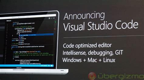 tutorial visual studio code mac visual studio code free editor for win mac linux ubergizmo