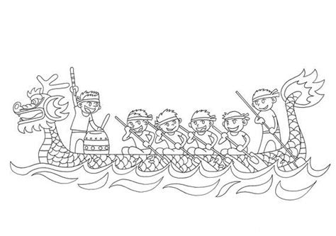 dragon boat template coloring pages chinese dragon boat festival sketch