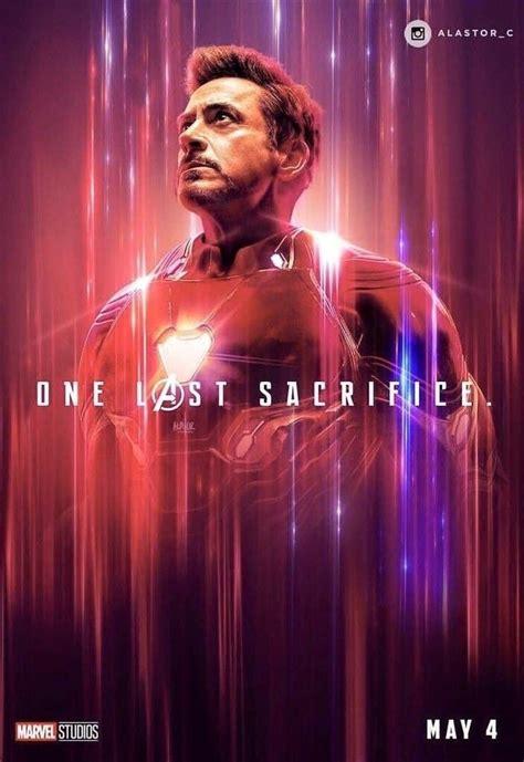avengers endgame poster iron man heart