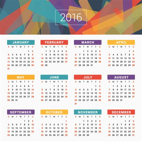 layout calendar design 2016 abstract card design calendar 2016 vector free vector