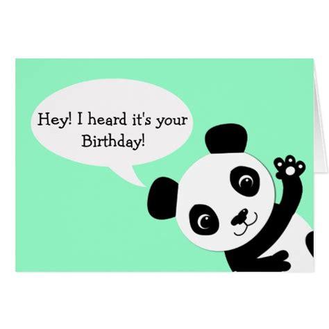 Panda Birthday Card Waving Panda Birthday Card Zazzle