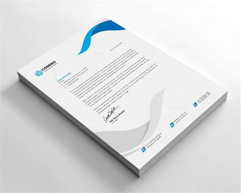 clear letterhead design template template catalog