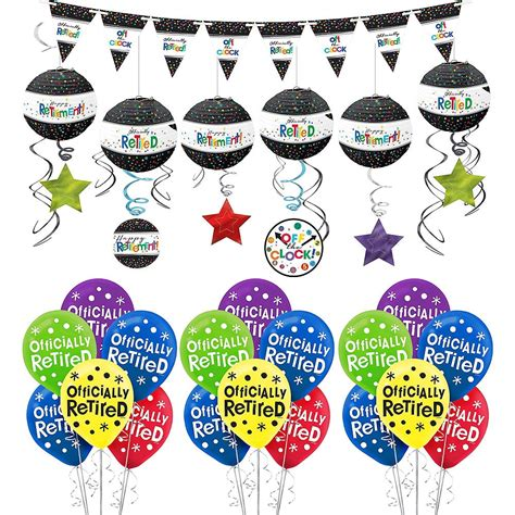 happy retirement celebration decorating kit  balloons