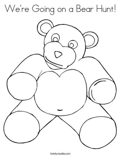 coloring pages for going on a bear hunt we re going on a bear hunt coloring page twisty noodle