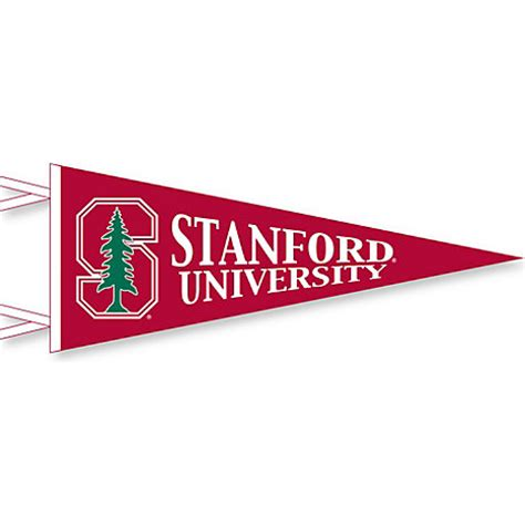 stanford school colors stanford cardinal 12 x 30 pennant