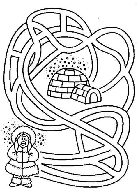 eskimo coloring page sketch coloring page