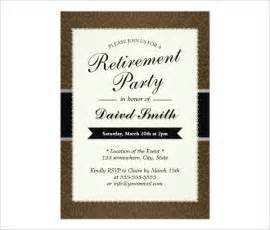 free retirement invitation templates for word retirement invitation template 36 free psd format