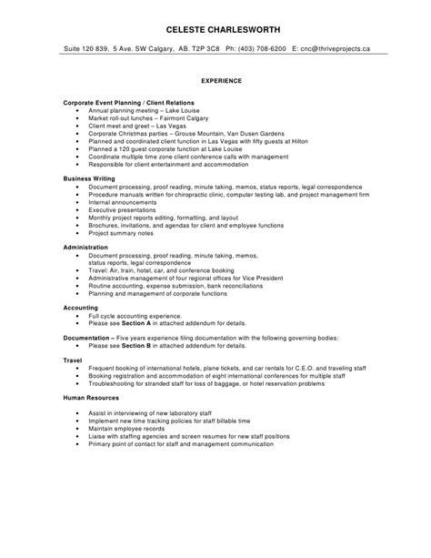 Comprehensive Resume Sample   Free Resume Templates