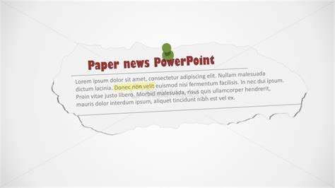 Newspaper Editable Clipping Shape For Powerpoint Slidemodel Newspaper Powerpoint Background