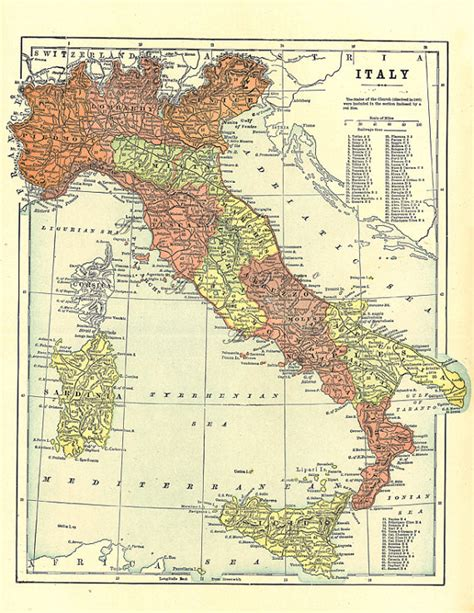 printable maps of italy map of italy from 1904 unique gift and home decor a