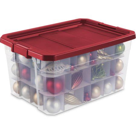 sterilite 19 gal christmas ornament storage sterilite corporation sterilite 19 gallon stacker ornament box really shop at ebates