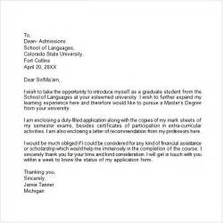 College Application Letter Application Letter 9 Free Sles Exles Format