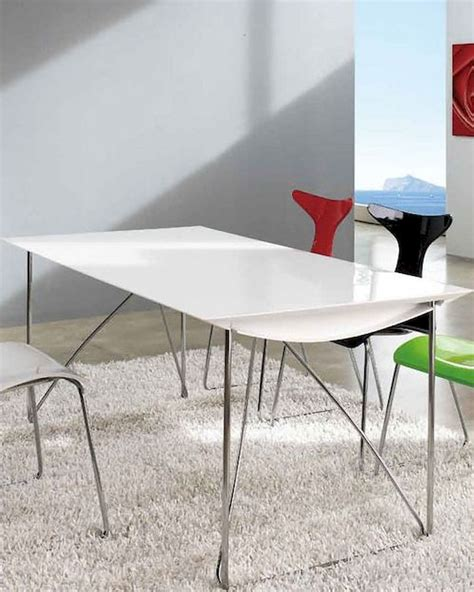 Contemporary White Dining Table Modern Dining Table In White 33b562