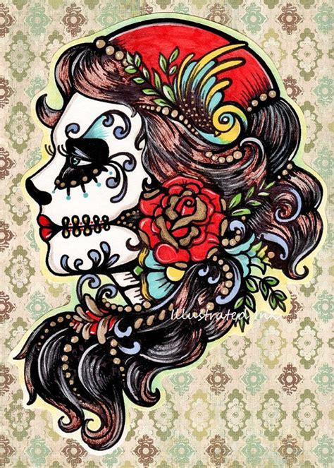 tattoo flash wall art tattoo wall art lady of the dead pinterest