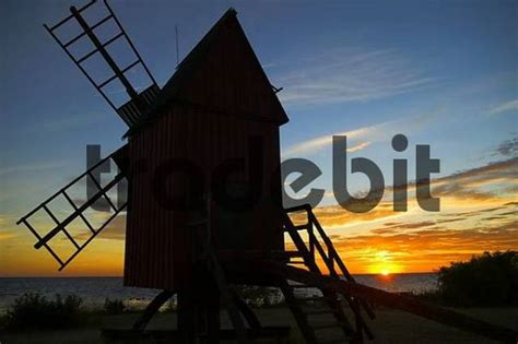 Instant Oland windmill and sunset oland sweden architecture