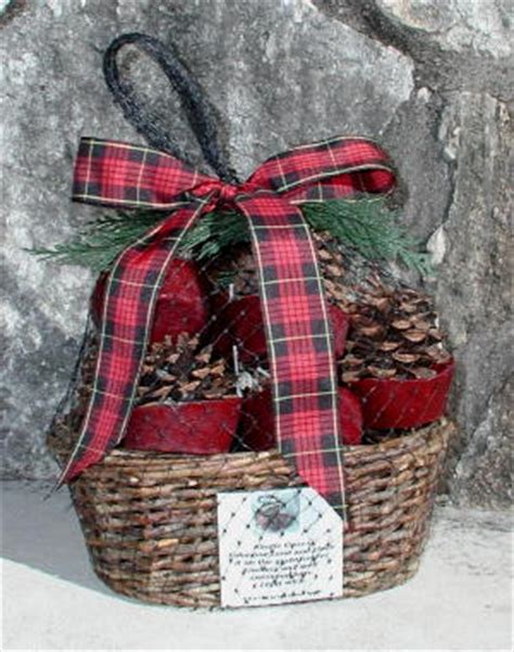 kindle cone fireplace hearth starter gift basket