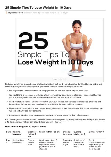 Friday How To Lose A In 10 Days by Simple Tips To Lose Weight In 10 Days