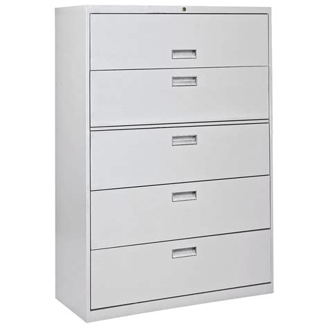 Five Drawer Lateral File Cabinet by Sandusky 600 Series 42 Inch 5 Drawer Lateral File