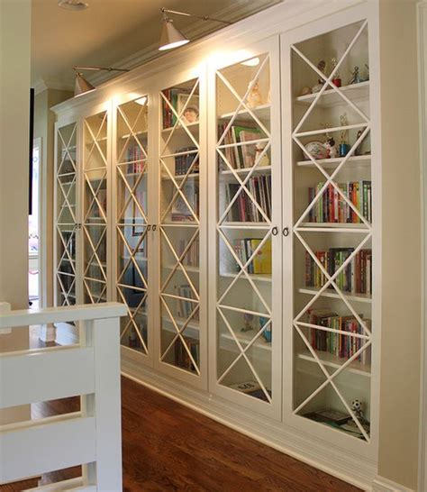 Library Bookcases With Glass Doors 30 Genius Ikea Billy Hacks For Your Inspiration 2017
