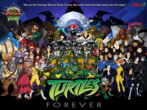 tmnt wallpaper classic turtles forever 2010 the crowe s nest