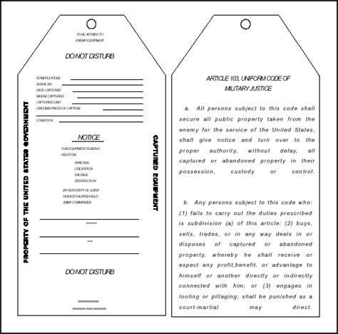 evacuation label template fm 4 30 13 chptr12 captured enemy ammunition