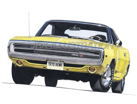 1970 dodge charger drawing 1970 dodge charger rt drawing by robert