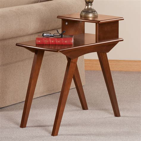 two tier side table two tier end table by oakridge side table easy comforts
