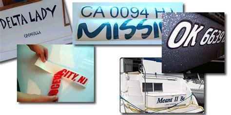 vinyl lettering boat registration vinyl boat lettering registration numbers