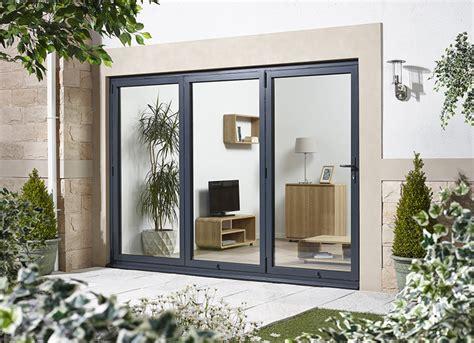 Grey Aluminium Patio Doors by Oak Folding Doors Oak Folding Patio Doors Patio Folding