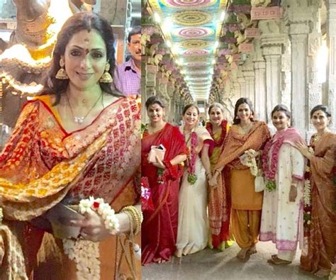 sridevi religion sridevi visits meenakshi temple on tamil new year