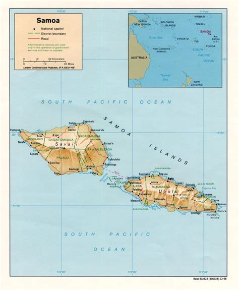 samoa map samoa maps perry casta 241 eda map collection ut library