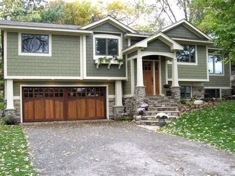 split level garage craftsman split level exterior and on