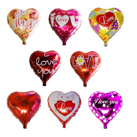 valentines day balloons 18 quot valentines day shaped helium foil orange balloon