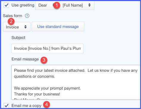 sle invoice email message how to set up messages in quickbooks online