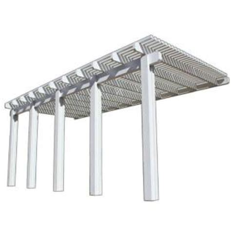 four seasons building products 22 ft x 10 ft white