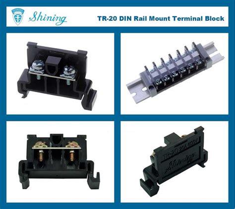 Terminal Block Tr 20 shining e e tr 20 35mm rail mounted snap on type 600v 20a terminal block connector high