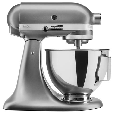 costco kitchen aid mixer kitchenaid 4 3 l stand mixer with pouring shield in silver 5ksm95psbcu costco uk