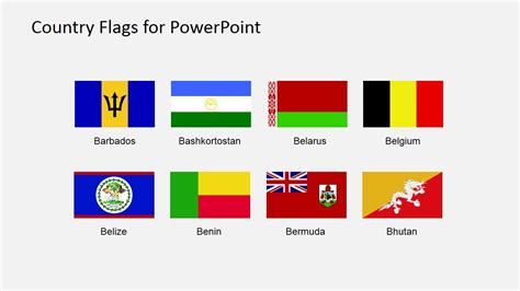 flags of the world for powerpoint country flags clipart for powerpoint a to b slidemodel