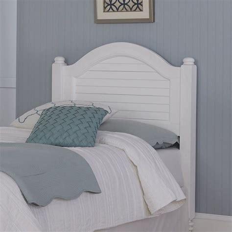 wood shutter twin headboard  white