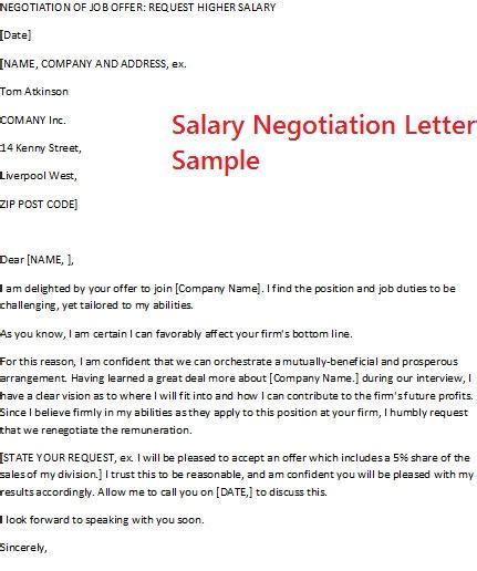 salary negotiation letter sle