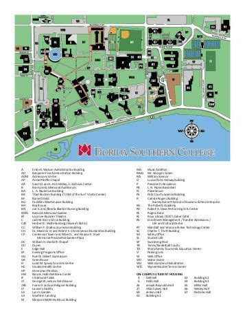 florida southern college map 10 free magazines from flsouthern edu