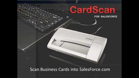 Salesforce Business Card Scanner scan business cards into salesforce business card reader