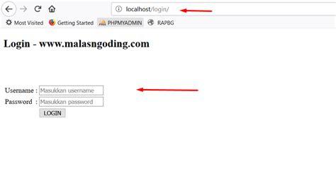 membuat login dan session dengan php membuat login dengan php dan mysqli part 2 malas ngoding