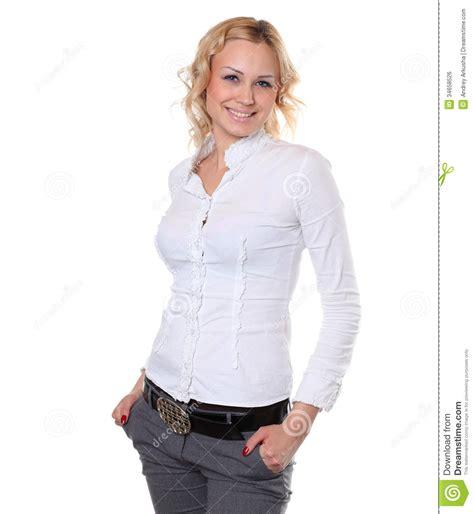 Beautiful Shirt Beautiful In White Shirt Royalty Free Stock Image