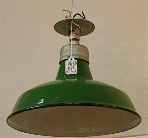 Retro Shop Lights by Found In Ithaca 187 Vintage Green Enamel Shop Light